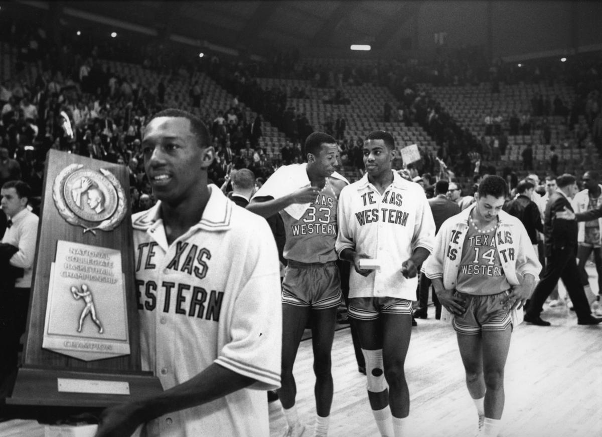 (L to R) Orsten Artis Nevil Shed, Harry Flournoy and Bobby Joe Hill of Texas Western College