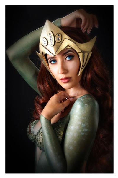 Local cosplayer Christina Dark will be a guest at this year's EPCON. Here, she is painted up as Mera, the undersea queen in DC Comics' Aquaman.