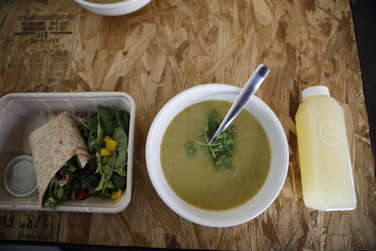 Salads can be turned into wraps while made-from-scratch soup options vary every week.