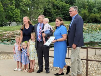 Insurance bill to cover port-wine stain treatment presented to local family