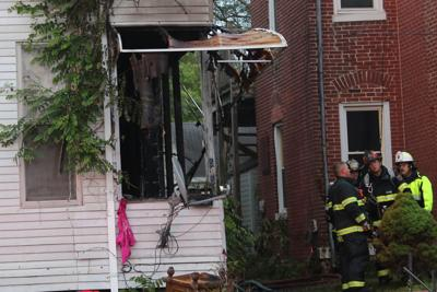 Firefighters battle fire on Quincy's southwest side