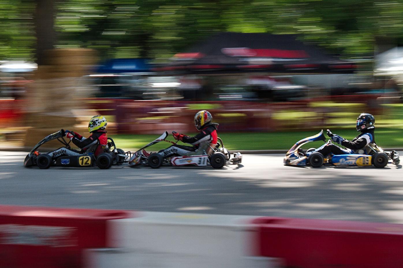 Racing through the park