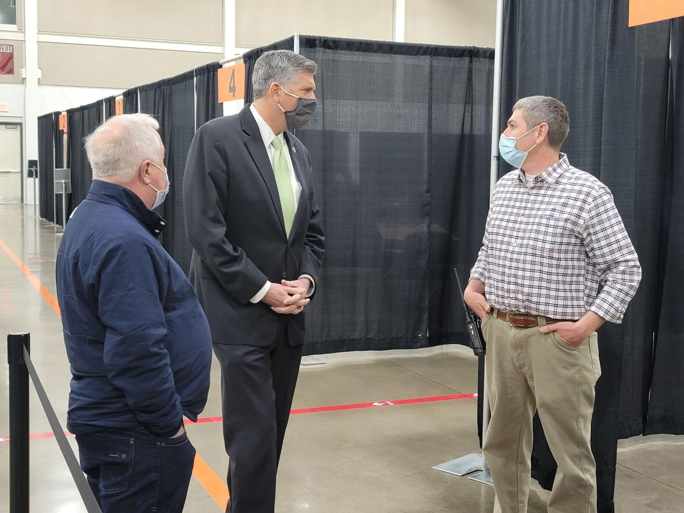 Rep. LaHood tours COVID vaccination facility