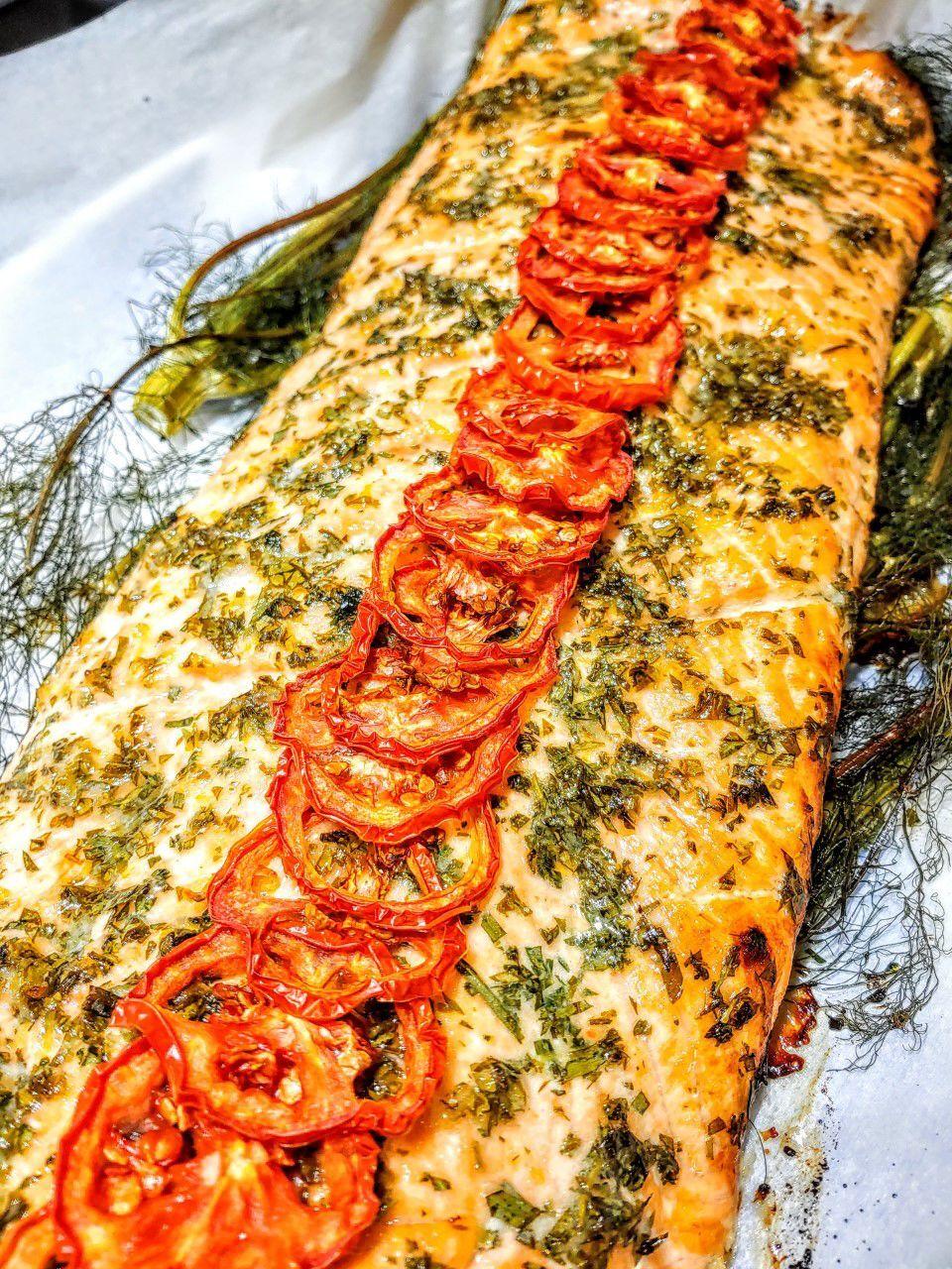 Cilantro Mint Salmon