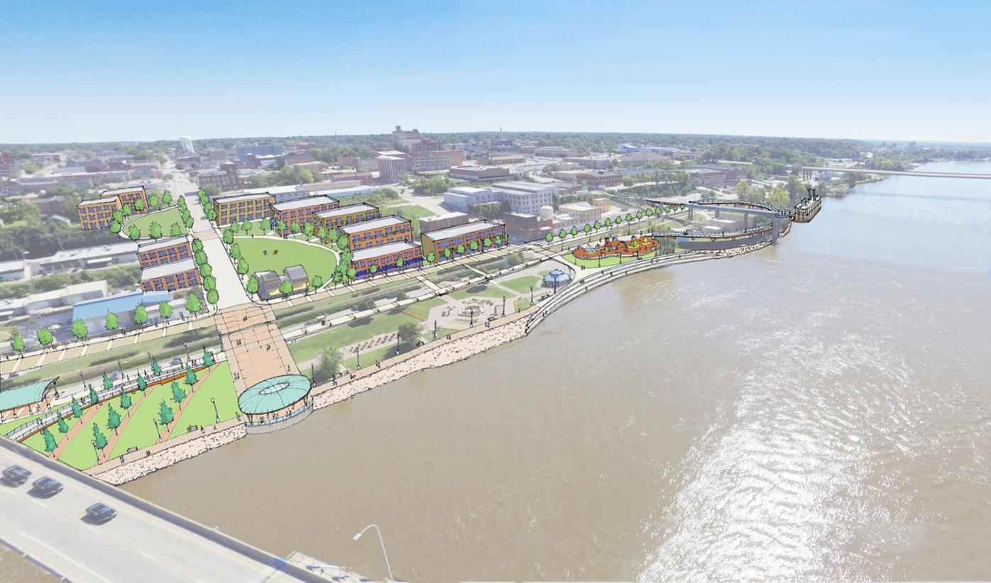 "Quincy riverfront ""Riverside Loop"" concept"