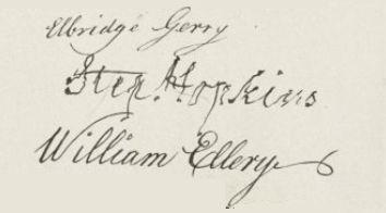 Stephen Hopkins' signature