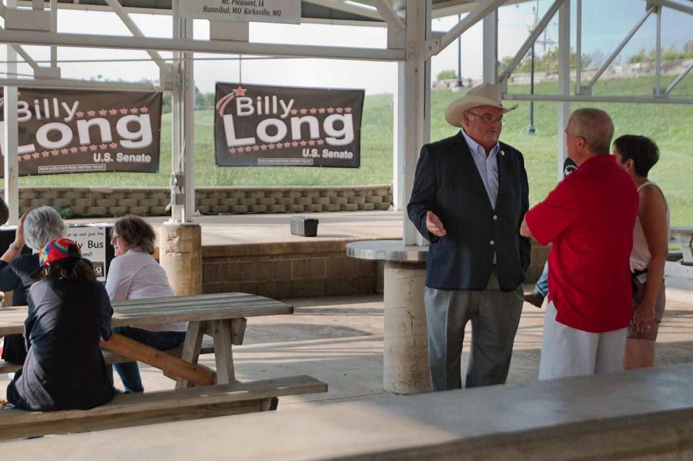 Rep. Billy Long stops in Hannibal on the campaign trail for the U.S. Senate