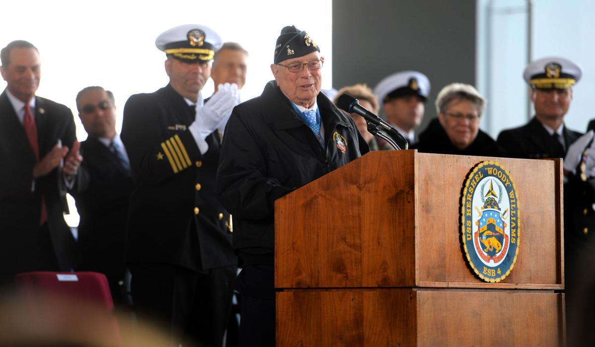 WOODY WILLIAMS SHIP COMMISSIONING