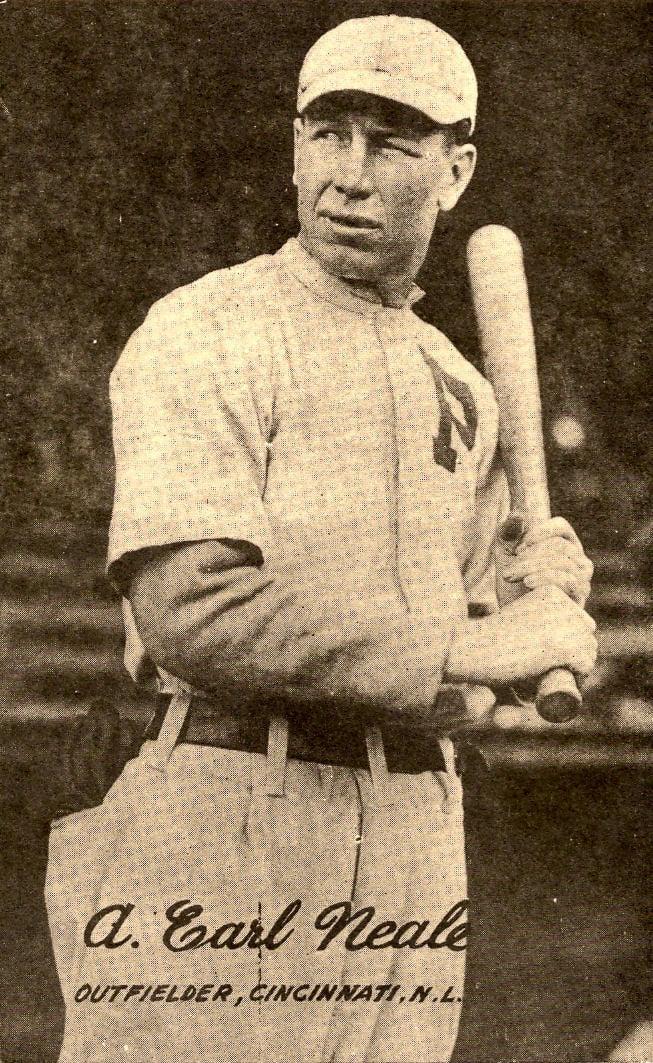 """Greasy"" Neale OF 1916-20 Cincinnati Reds"