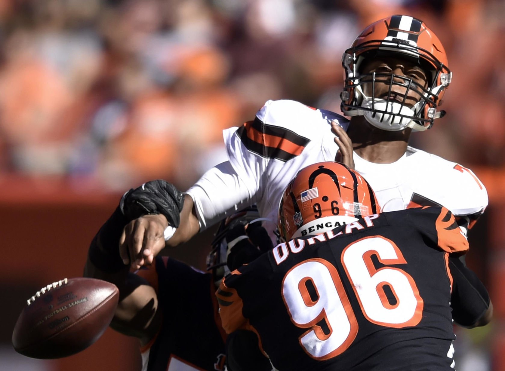 Myles Garrett's first sack would be like a 'fat guy touchdown'