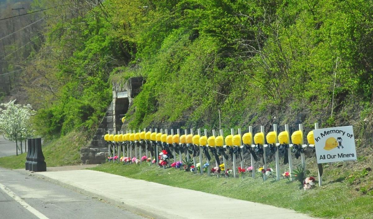 Upper Big Branch mine memorial in Mt Hope, WV