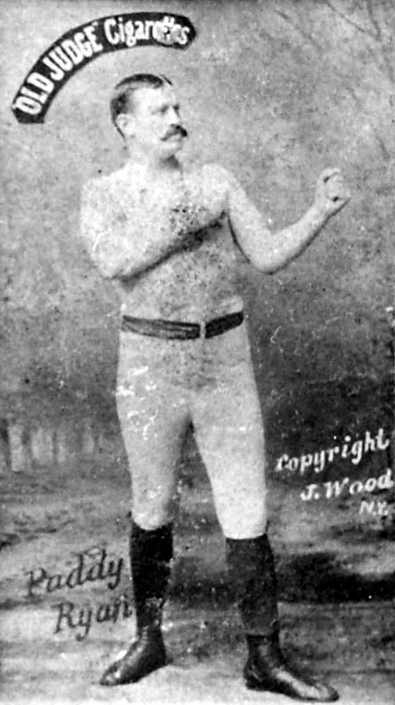 Paddy Ryan from 1887 Old Judge card