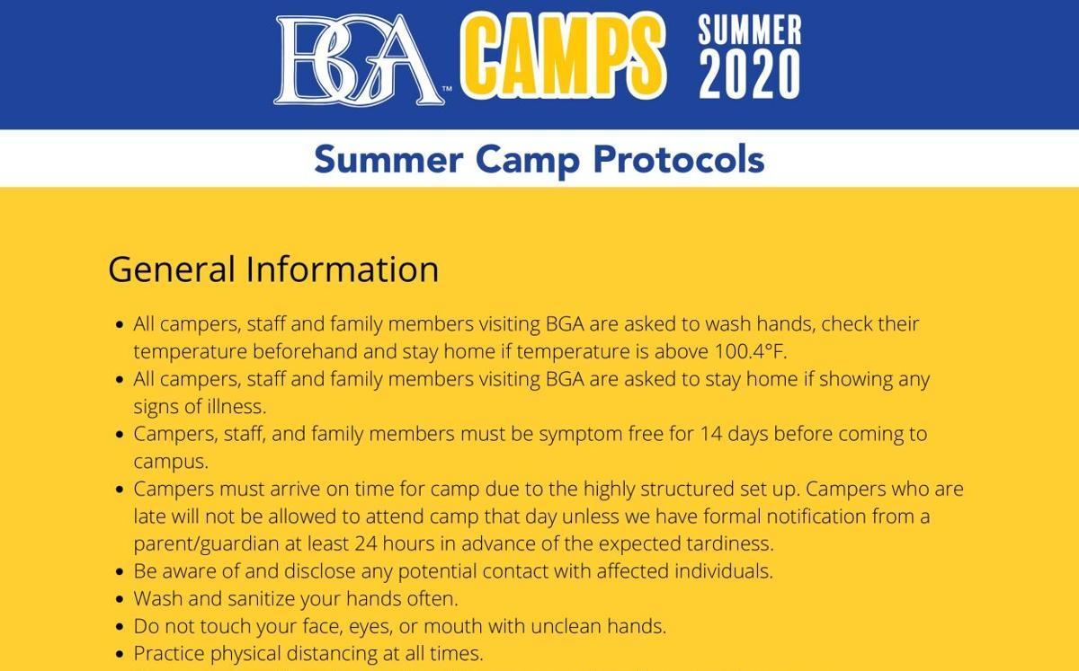 BGA Summer Camp Protocols