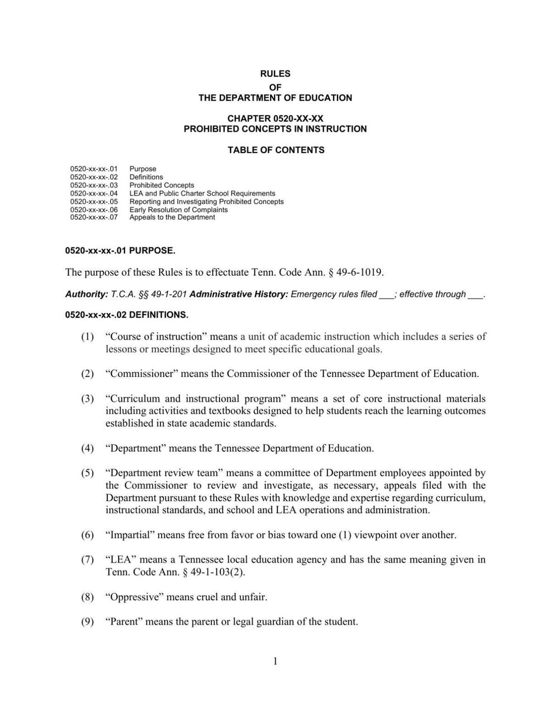 TDOE guidance on anti-CRT law