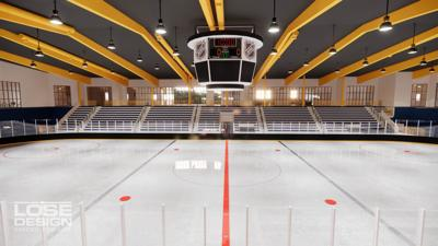 Franklin Sports Complex ice rink rendering