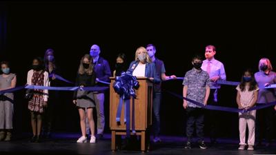 Sunset Middle performing arts auditorium ribbon cutting