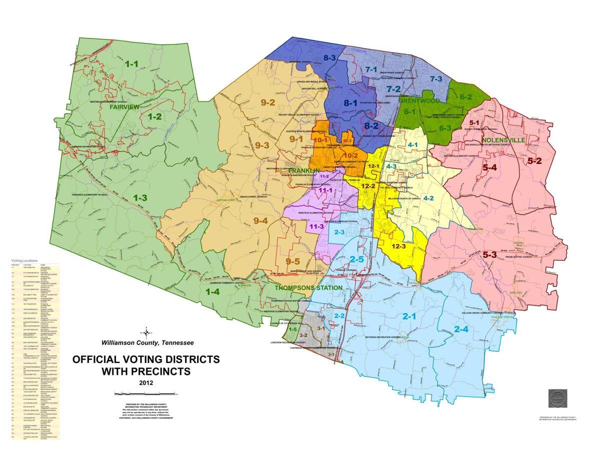 Voting Precinct County Map
