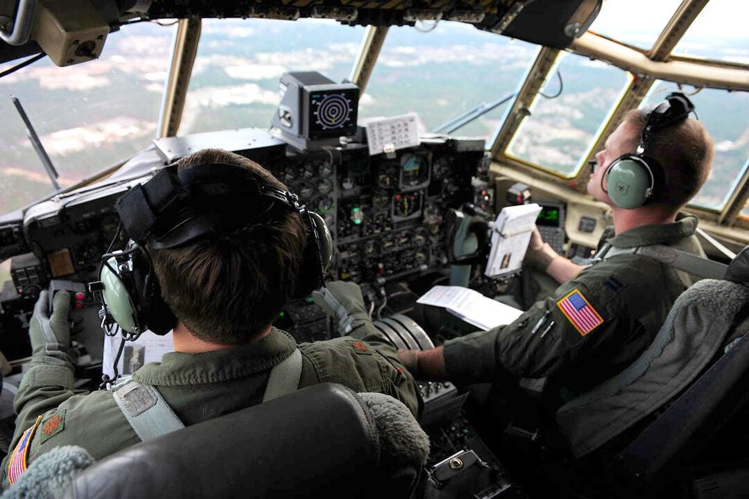 Cockpit of a C-130