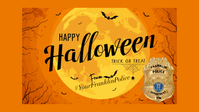 Franklin trick-or-treating