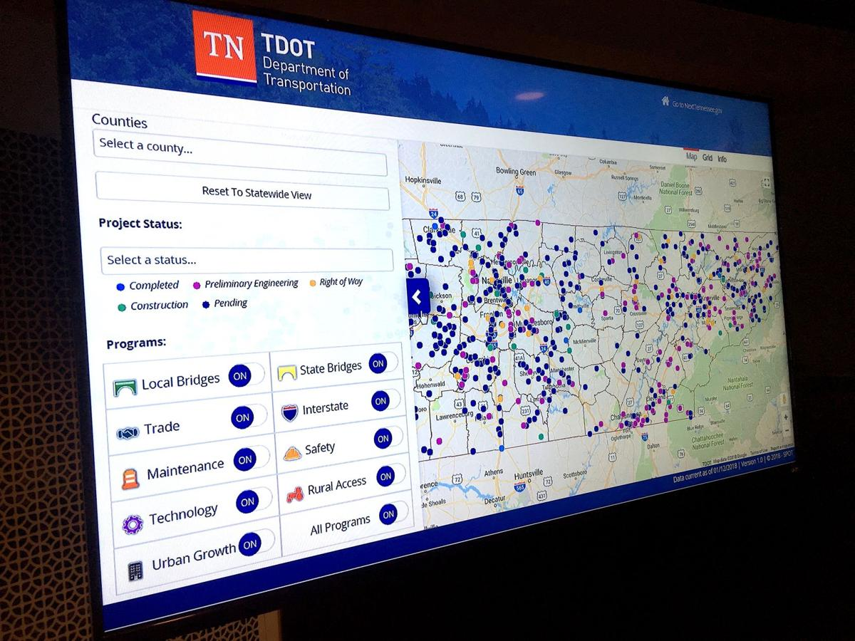 TDOT demonstrates road project tracker, SPOT, at legislative ...