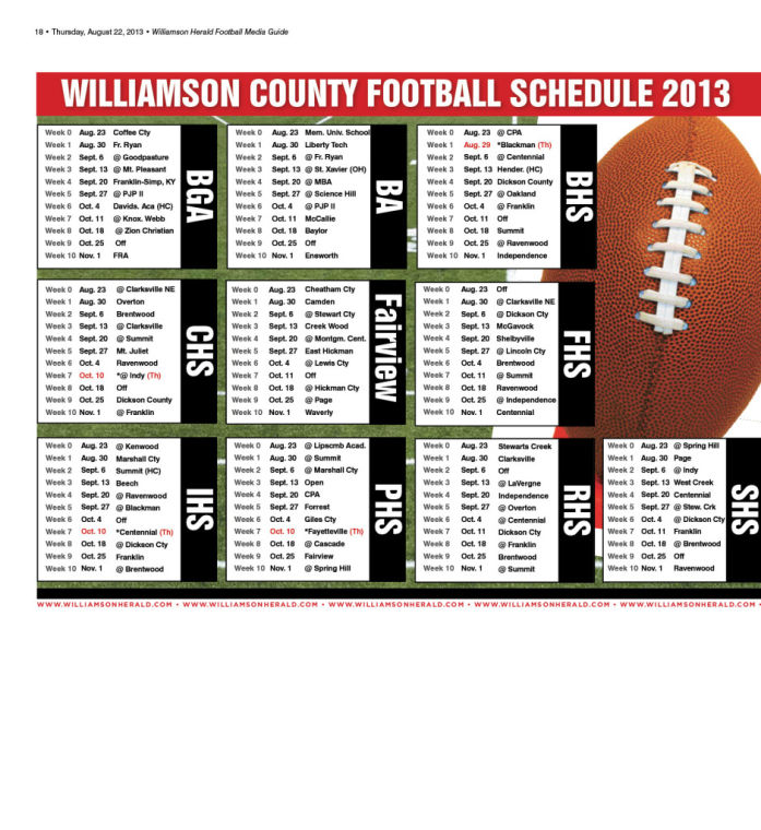 Take a look at our 2013 Williamson County Football Preview