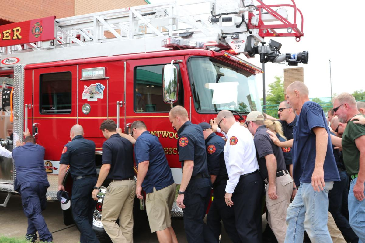 Brentwood Fire and Rescue showcases new truck with push-in ceremony