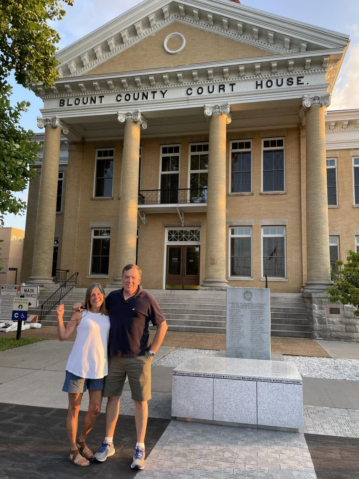 Whitson 95-county trip Blount County Courthouse
