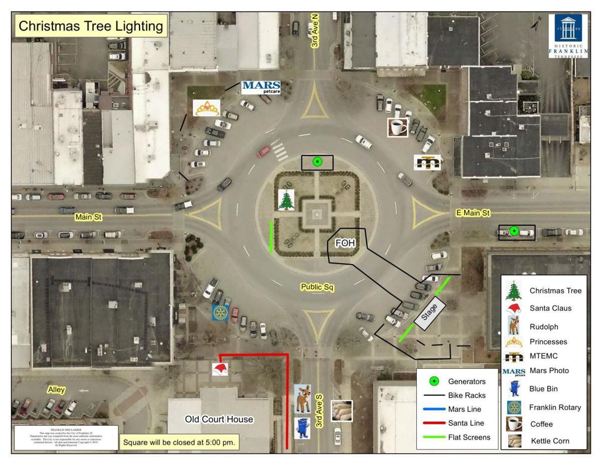Christmas Tree Lighting Events Map