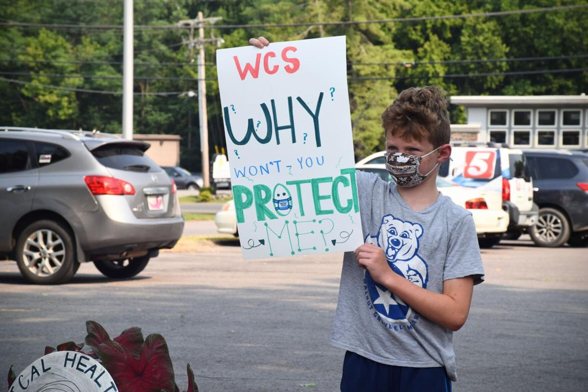 WCS pro-mask protest