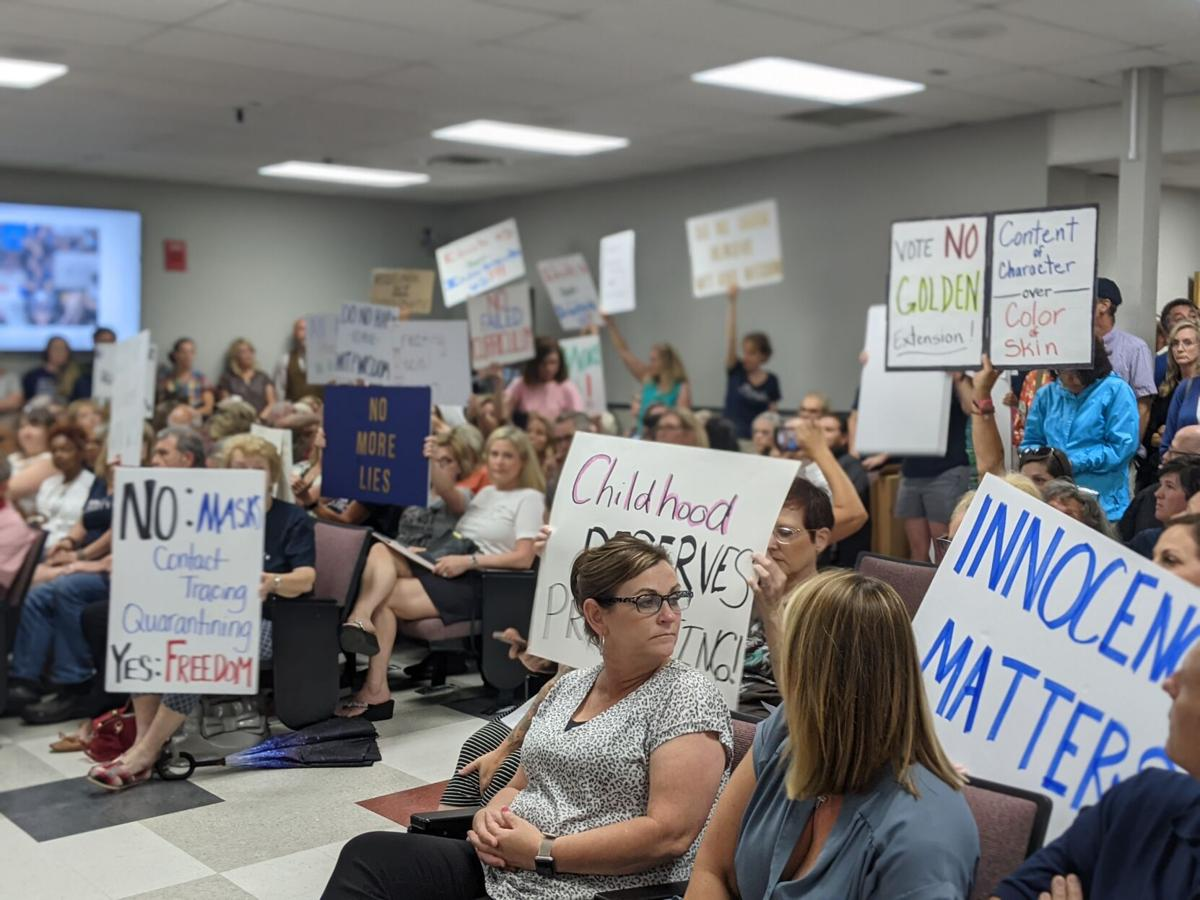 Moms For Liberty at WCS meeting