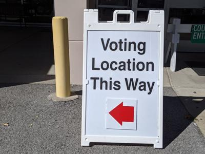 Vote Here early voting sign