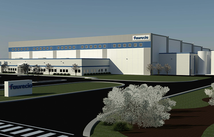 Faurecia breaks ground on $30M manufacturing facility in