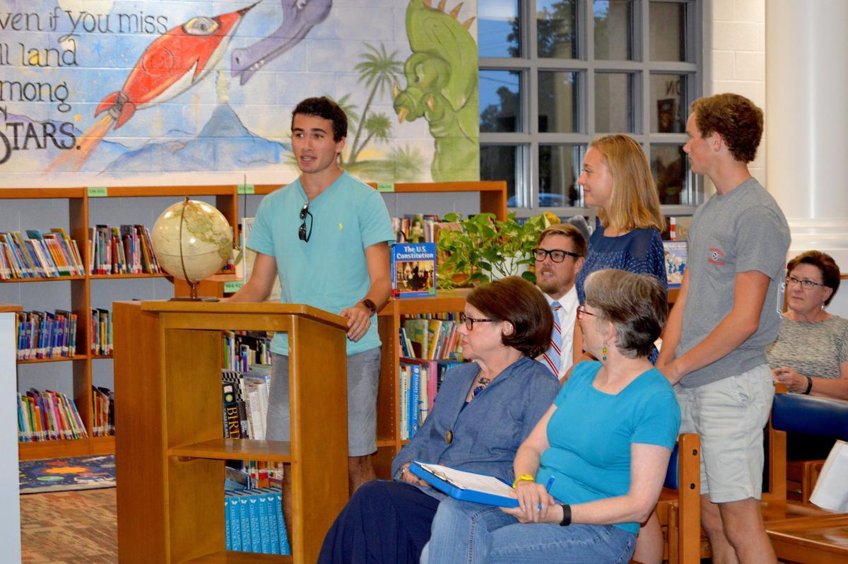 FHS senior Zach Wolfson, Threads of Care founder, addresses FSSD school  board.