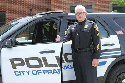 Franklin Police Sgt. David Mullins, a retired Army veteran, has been with the Franklin Police Department since 1996.