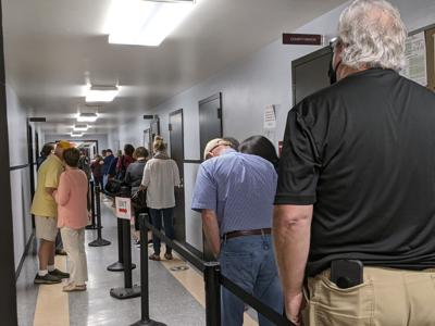 Early voting line Williamson County Administrative Complex