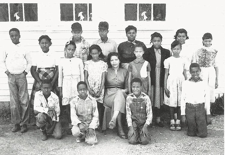 Brentwood Elementary School on Frierson Street in 1941 was one of two county schools in Hardscuffle.