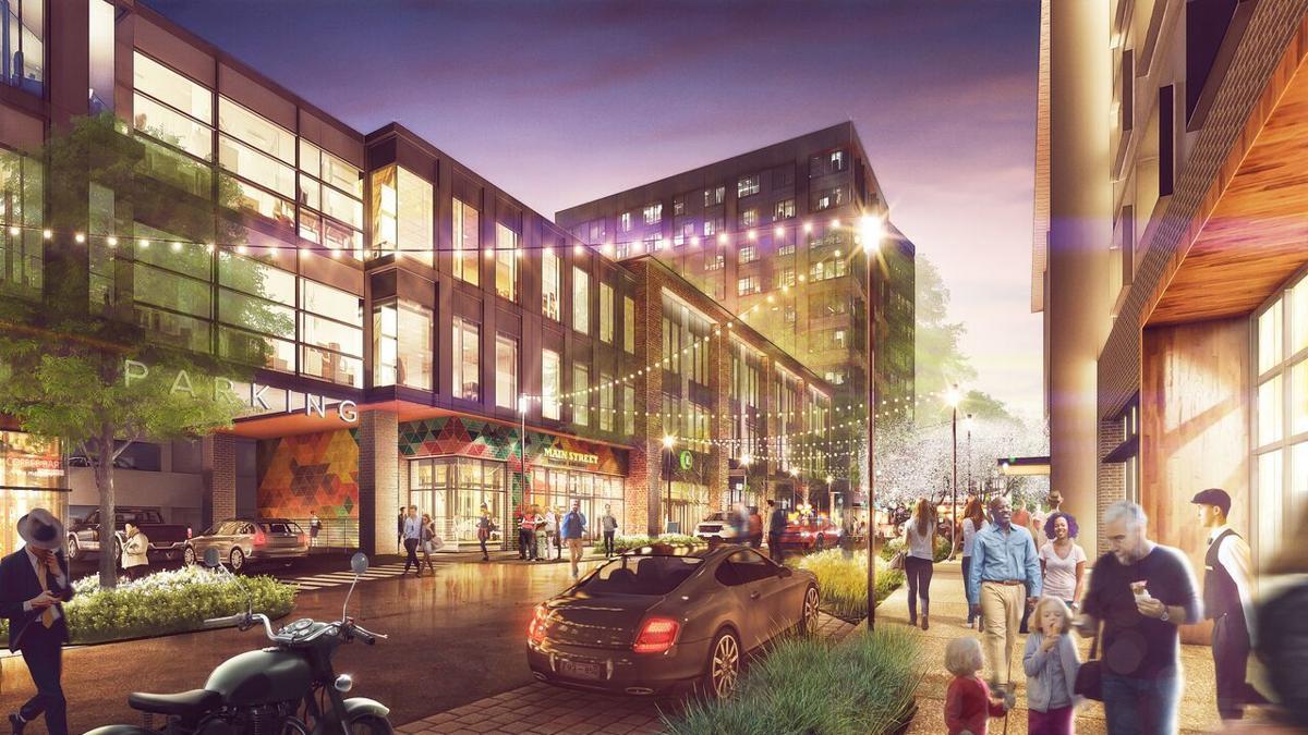 Rendering of Bigby development