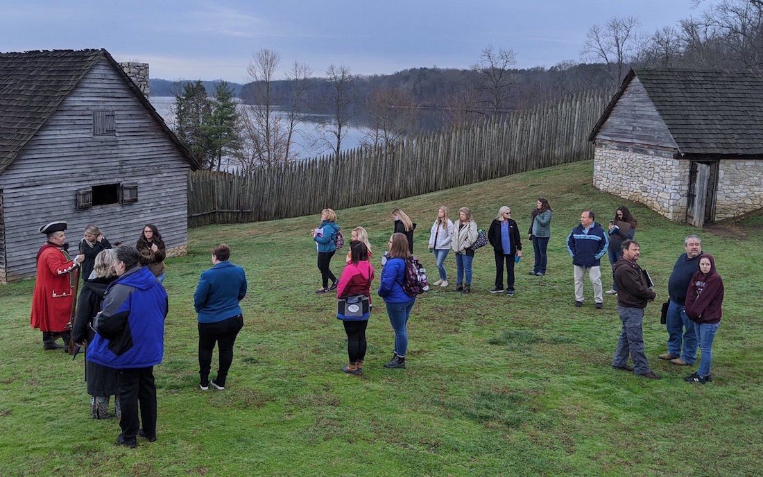 Teachers tour Fort Loudoun in Monroe County