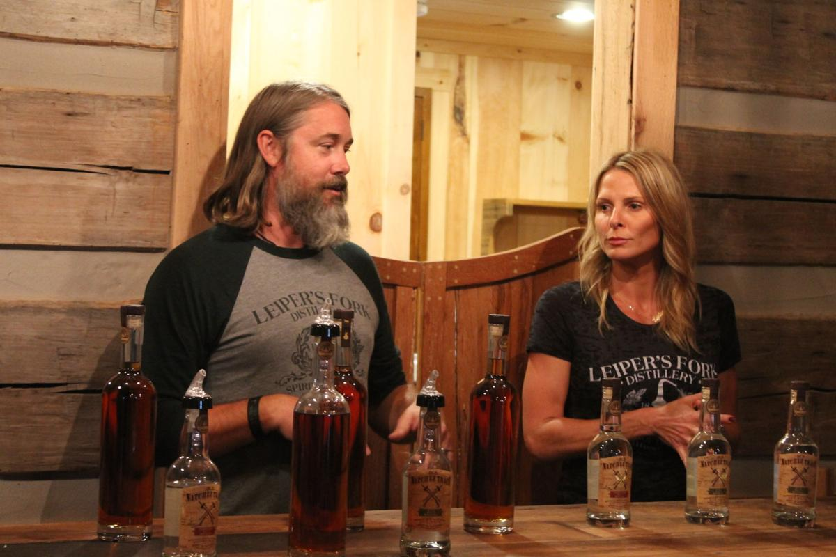 Lee and Lynlee Kennedy in the Tasting Room.