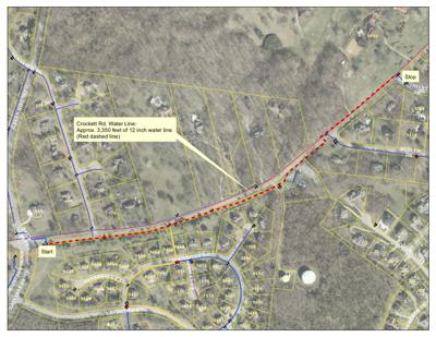 Crockett Road water line replacement project