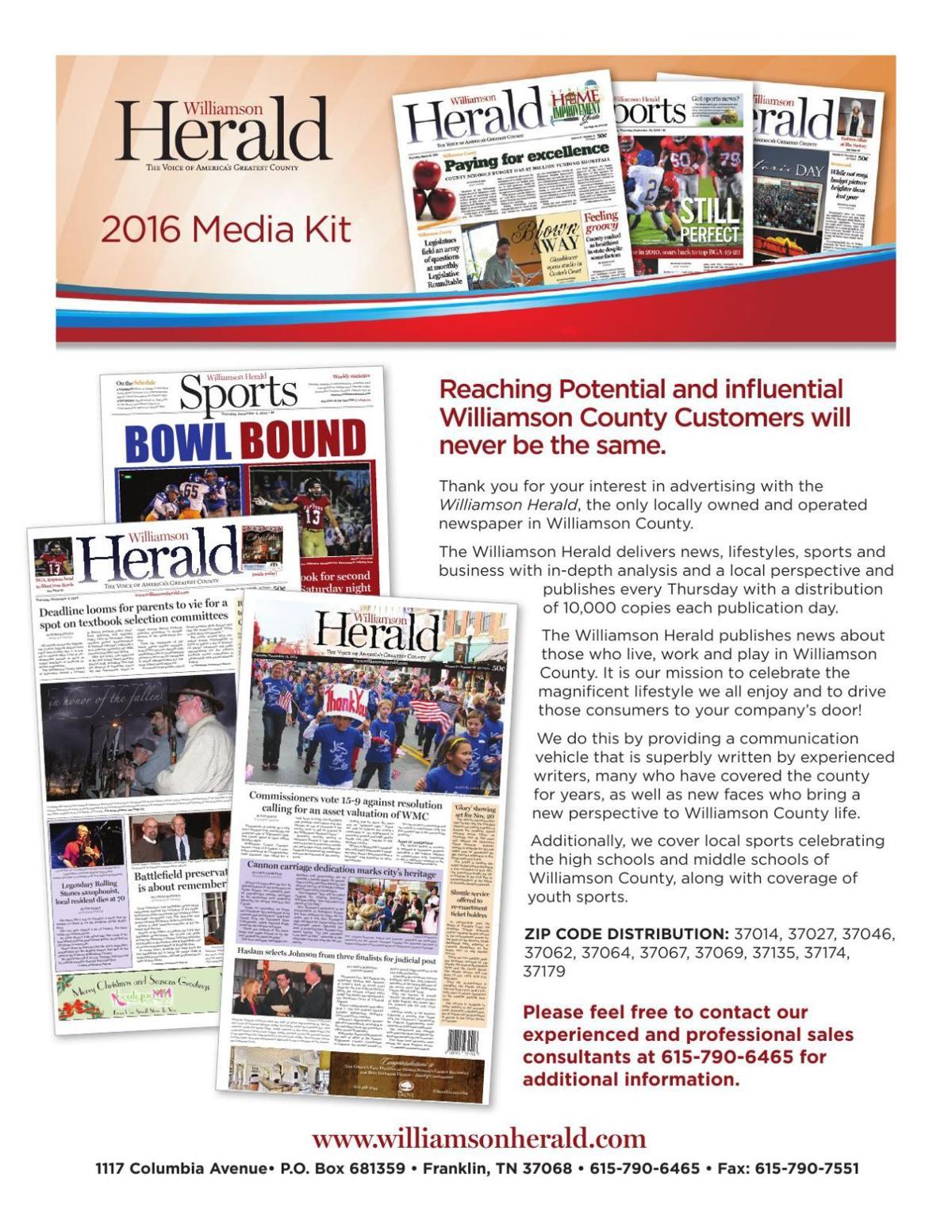 Herald Media Kit 2016