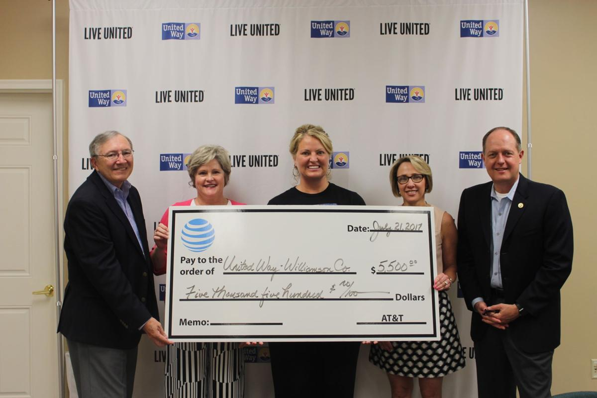AT&T check presented to United Way of Williamson County