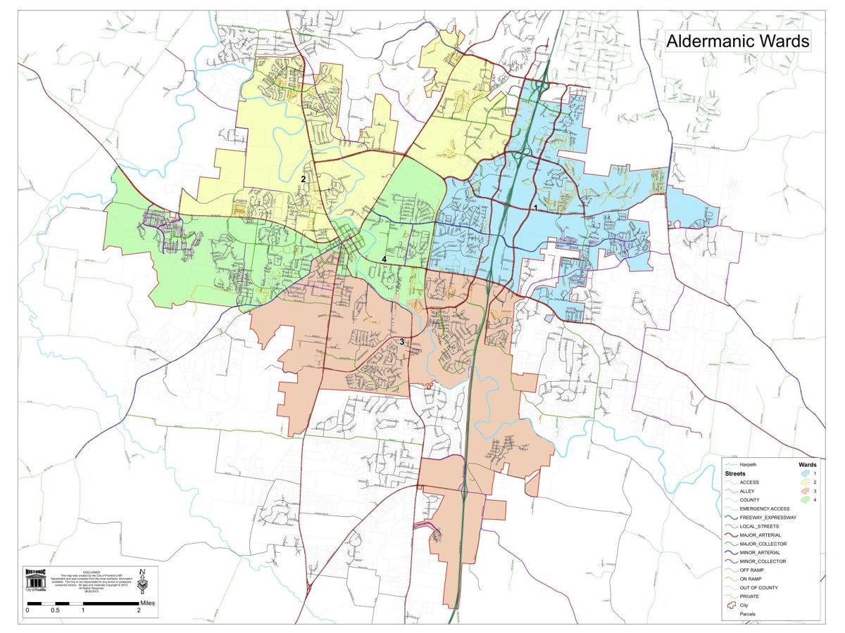 Franklin Alderman Ward Map