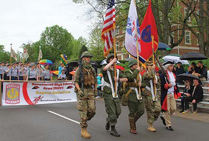 Ravenwood High JTOTC marched in the parade.