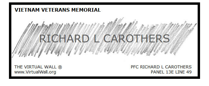 Richard L. Carothers digital name rubbing