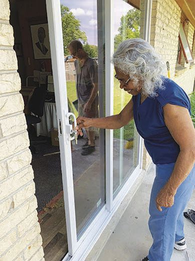 For the first time in years Mary Hunter can easily open the sliding door to her backyard.