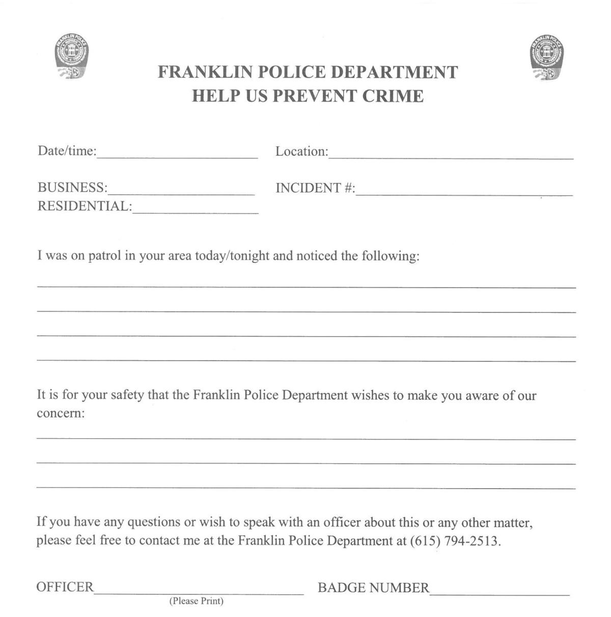 FPD form