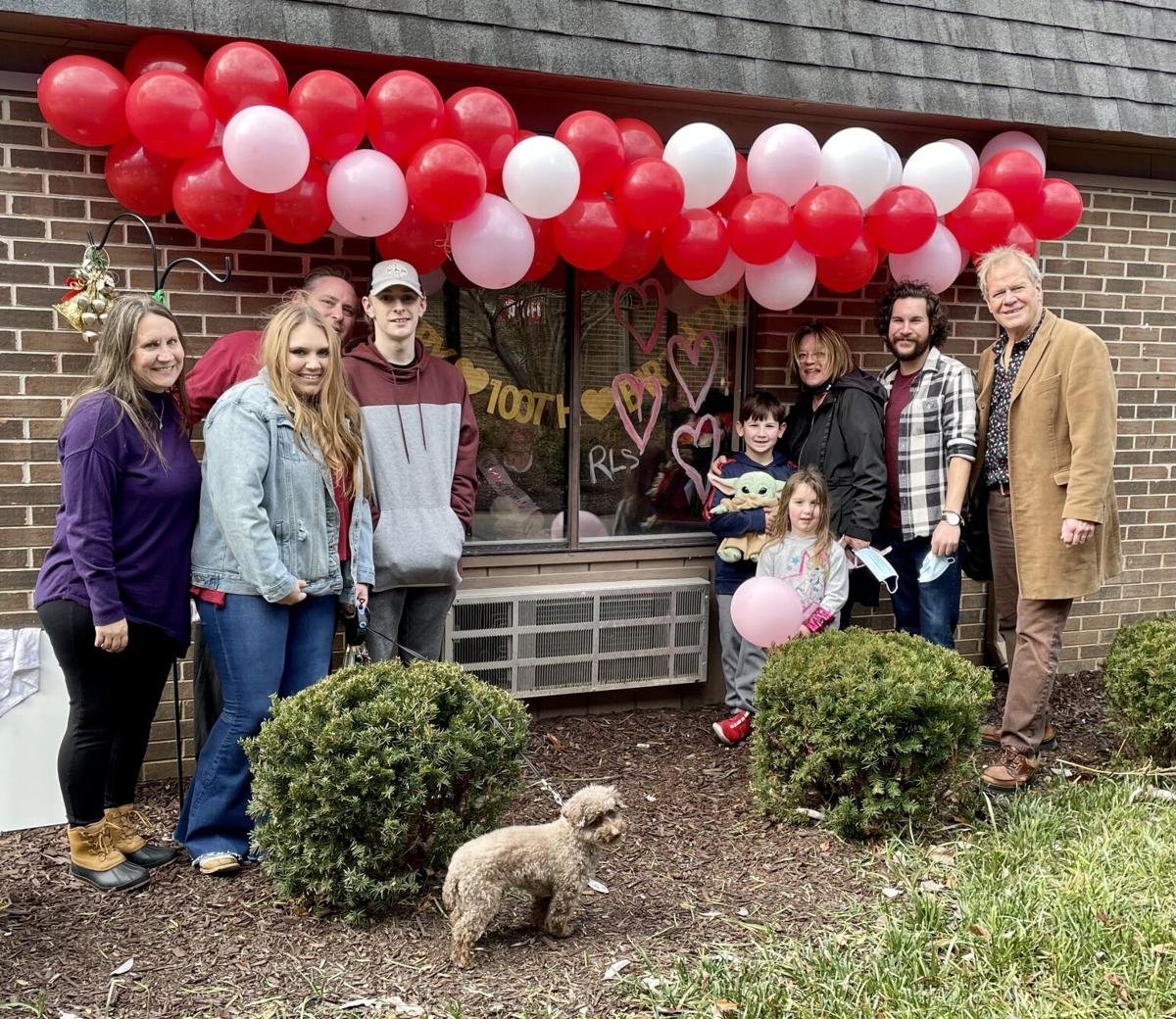 Family visits for Ruby Lee's birthday