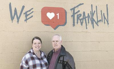 New downtown Franklin mural embraces love for community