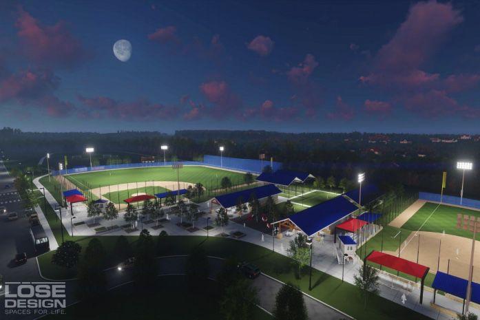 FSSD ball fields master plan rendering